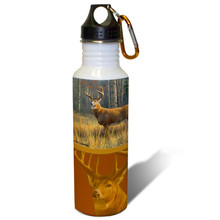 Prime Time Whitetail Deer - 22oz. Stainless Steel Water Bottle