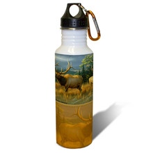 Montana Memories Elk Herd - 22oz. Stainless Steel Water Bottle