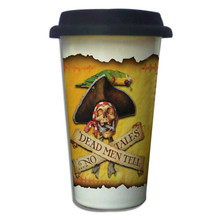 Dead Men Tell No Tales Pirate - 11oz. Insulated Ceramic Travel Mug