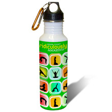 Make Today Ridiculously Amazing Exercise Motivation Green - 22oz. Stainless Steel Water Bottle