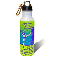 Kickboxer Woman fitness motivation - 22oz. Stainless Steel Water Bottle