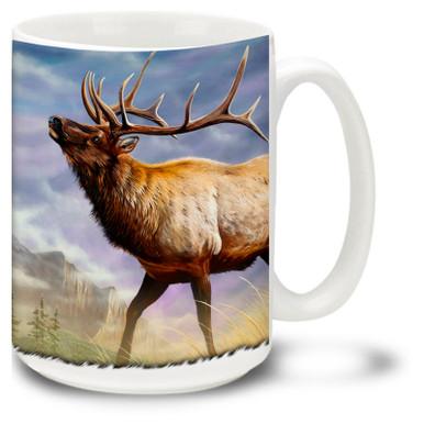 Majestic Elk against a beautiful scenic backdrop.