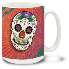 Radiant sugar skull makes every day like the Day of the Dead!