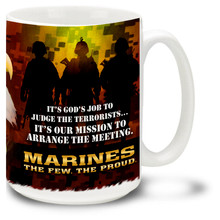 United States Marines God's Job - 15oz. Mug