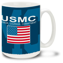 United States Marine Corps Honor Courage Commitment - 15oz. Mug