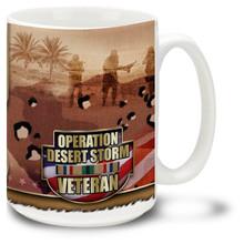 United States Army Desert Storm Service Medal - 15oz. Mug