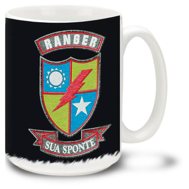 United States Army Rangers Earned Not Issued 15oz Mug Cuppa