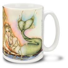 Freckles the Colorful Mermaid - 15oz. Mug