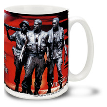 Vietnam War Memorial with U.S. Flag - 15oz. Mug