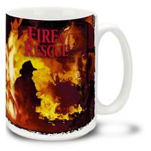 Fire and Rescue Firefighter - 15oz. Mug
