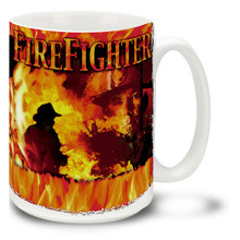 Firefighter Firemen Action - 15oz. Mug