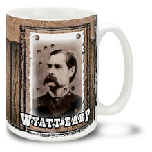 Wyatt Berry Stapp Earp Deputy Sheriff, and Deputy Town Marshal in Tombstone, Arizona took part in the Gunfight at the O.K. Corral. Brew up with some coffee for your very own Wyatt Earp Mug! Featuring a historic photo, this Wyatt Earp coffee Mug is dishwasher and microwave safe.