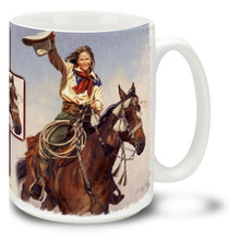 Yippee Yi Yea Cowgirl and Horse Coffee Mug - 15oz. Mug