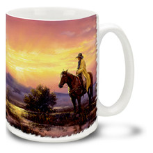 After The Storm Cowboy and Horse Coffee Mug - 15oz. Mug