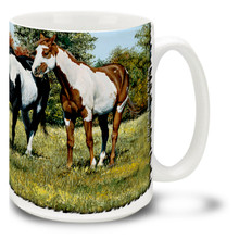 Hillside Paint Horses Coffee Mug - 15oz. Mug