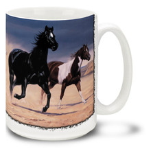 Black Mesa Horses Coffee Mug - 15oz. Mug
