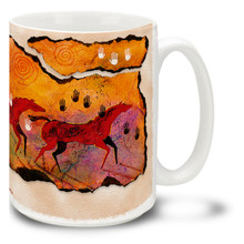 Wild Red Horses Coffee Mug - 15oz. Mug