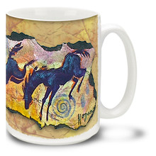 Jumping for Joy Black Horses Coffee Mug - 15oz. Mug
