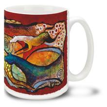 Spots and Spirals Flowing Horses Coffee Mug - 15oz. Mug