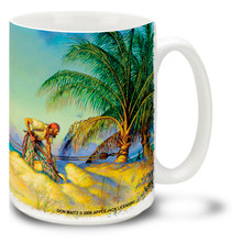 Pirate Banking Tropical Island - 15oz. Mug