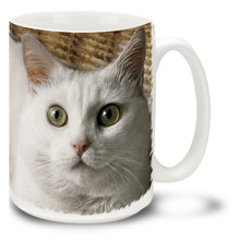 Fluffy White Kitty - 15oz. Cat Mug