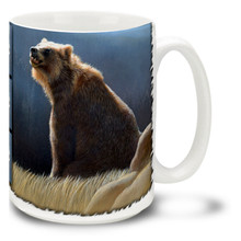 Many Native Americans regard the brown bear with a strong mix of fear and respect, some even regarding it as a god. This powerful animal is not something most would want to tangle with, and keeping out of scent range of a big hungry bear is always a good idea! Wake up and smell the coffee with this Catching the Scent Brown Bear Mug. Brown Bear coffee mug is dishwasher and microwave safe.