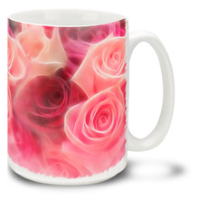 Beautiful Pink and Red Roses are in a romantic dream! Celebrate your love with this Roses mug. Easy to customize with a name or romantic message for only $3! Beautiful Pink and Red Roses coffee mug is dishwasher and microwave safe.