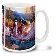 Morning in New Mexico Cowboys - 15oz Mug