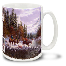 Yosemite Morning on the Merced Cowboys - 15oz Mug