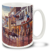 Cowtown Fort Worth Stockyards Texas - 15oz Mug