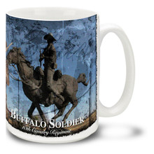 Buffalo Soldiers 10th Cavalry Statue - 15oz Mug