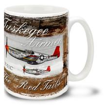 Tuskegee P51c Red Tails - 15oz Mug