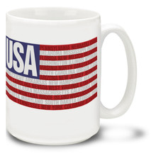 America's States United States Flag  - 15oz Mug