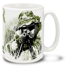 Army Sniper in Action - 15oz Mug