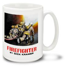 Firefighters Pulling the Hose - 15oz Mug