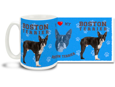 Love your Boston Terrier? You'll love this Boston Terrier Coffee mug! Boston Terrier mug is durable, dishwasher and microwave safe.