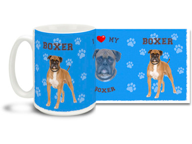 Love your Boxer? You'll love this Boxer Coffee mug! Boxer mug is dishwasher and microwave safe.