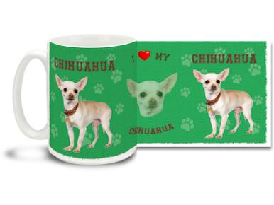 Love your Chihuahua? You'll love this Chihuahua Coffee mug! Chihuahua mug is dishwasher and microwave safe.