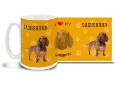 Love your Dachshund? You'll love this Dachshund Coffee mug! Dachshund mug is dishwasher and microwave safe.