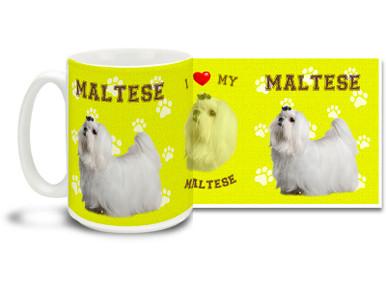 Love your Maltese? You'll love this Maltese Coffee mug! Maltese mug is dishwasher and microwave safe.