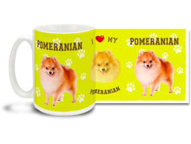 Love your Pomeranian? You'll love this Pomeranian Coffee mug! Pomeranian mug is dishwasher and microwave safe.