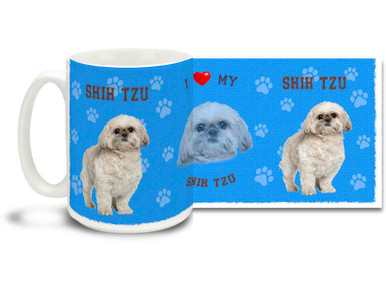 Love your Shih Tzu? You'll love this Shih Tzu Coffee mug! Shih Tzu mug is dishwasher and microwave safe.
