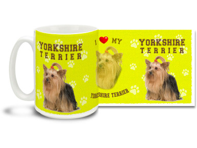 Love your Yorkshire Terrier? You'll love this Yorkshire Terrier Coffee mug! Yorkshire Terrier mug is dishwasher and microwave safe.