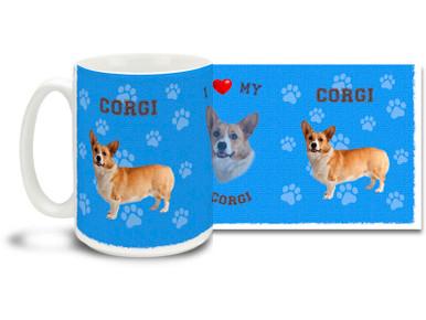 Love your Corgi? You'll love this Corgi Coffee mug! Corgi mug is dishwasher and microwave safe.
