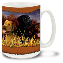 Labs In Marsh Hunting Dogs - 15oz Dog Mug