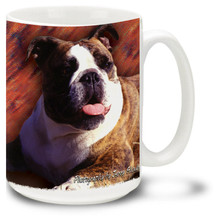Artsy English Bulldog - 15oz Dog Mug