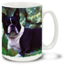 Artsy Boston Terrier - 15oz Dog Mug