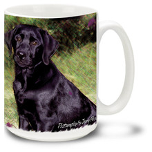 Artsy Black Lab - 15oz Dog Mug