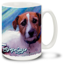 Artsy Jack Russell Terrier - 15oz Dog Mug