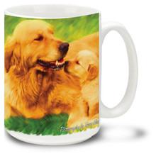 Artsy Golden Retriever - 15oz Dog Mug